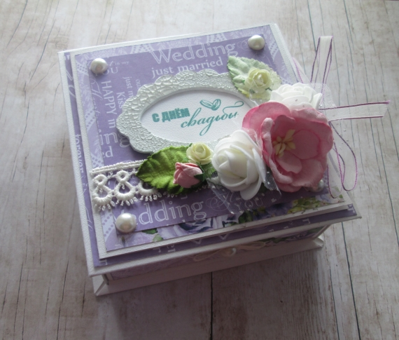 Коробка открытка на свадьбу 18