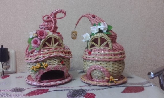 Плетеные подарки, сувениры и не только