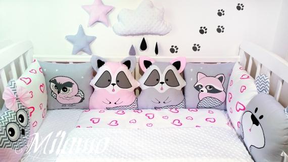 Бортики- подушки в кроватку