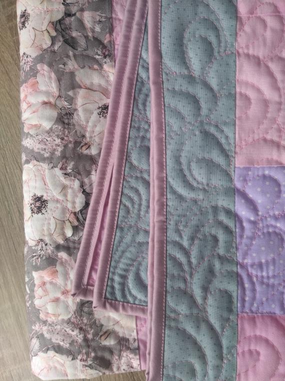 """Лоскутное одеяло """"Розовая дымка"""""""