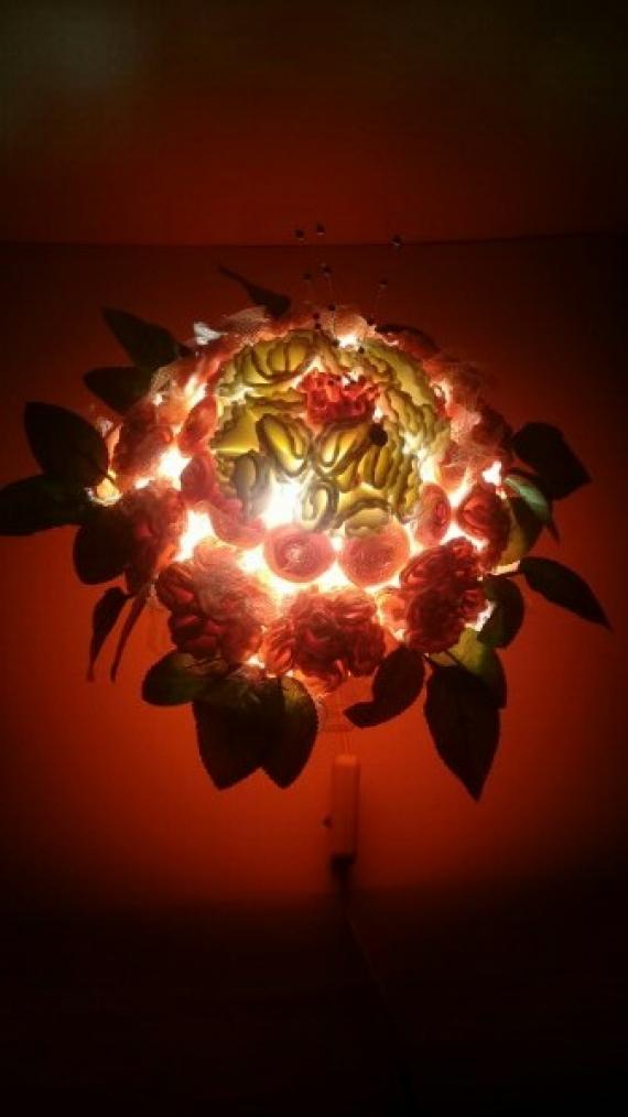 """Подарочные наборы - ночник  """"Розочки - цветочки"""""""