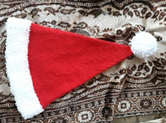 Новогодняя шапка Санта Клауса