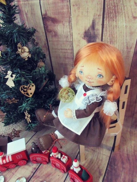 Текстильная кукла Первоклассница