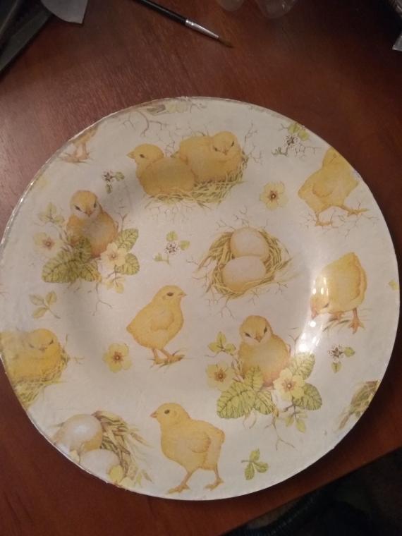 Тарелка пасхальная