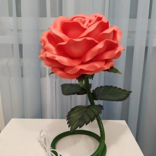 Роза светильник из изолона