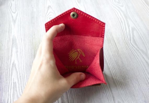"""Кошелек для мелочи, пластиковых карт и банкнот """"Фламинго"""""""