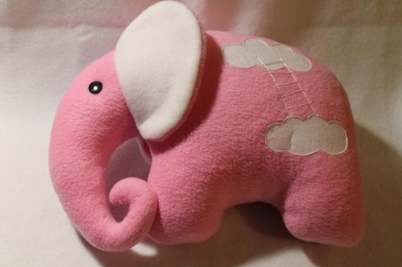 Подушка-игрушка. Слоник. Розовые сны