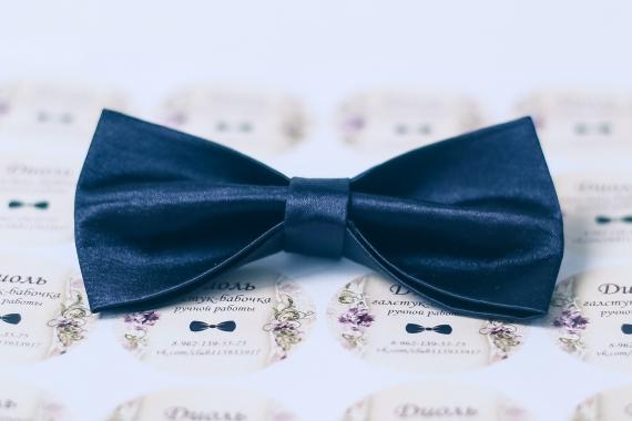 "Атласная галстук-бабочка ""Диоль"""