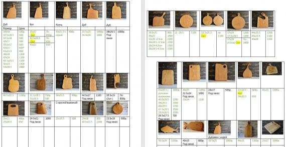 разделочные доски классической формы