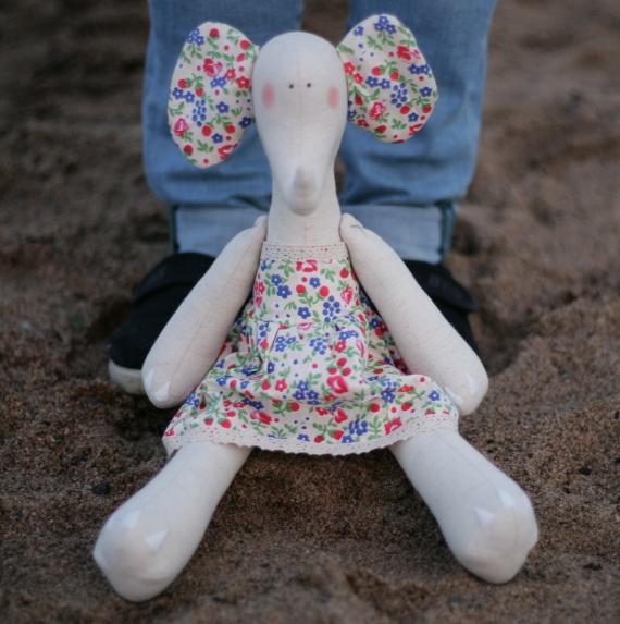 Текстильная кукла Слоник Катюша