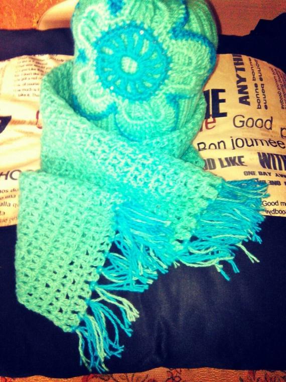 комплек шапка+ шарф или снуд