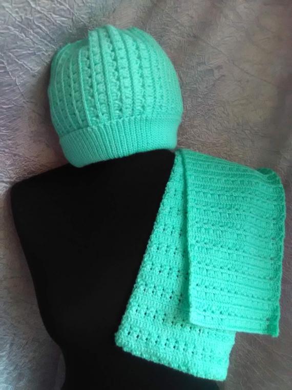 Комплект шапка/шарф/снуд