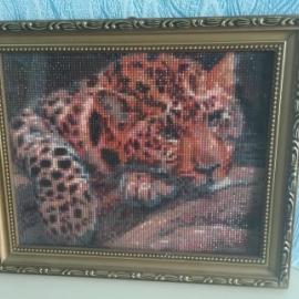 Картина из страз «Леопард»