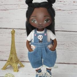 Текстильная кукла Смуглянка