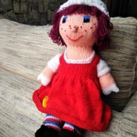 """Вязаная кукла """"Беатриса"""""""