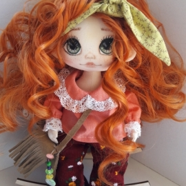 Кукла текстильная