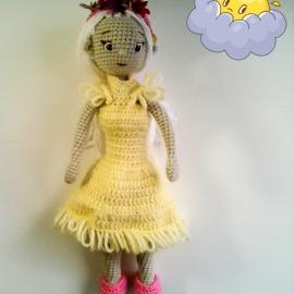 Вязаная кукла Элизабет.