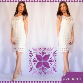 Платье ажурное белое