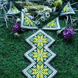 Колье-галстук «Звезда Алатырь»