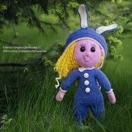Кукла Зайка вязаная крючком