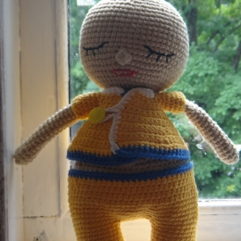 Вязаная кукла-сплюшка