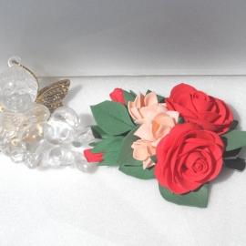 Зажим для волос Цветы из фоамирана