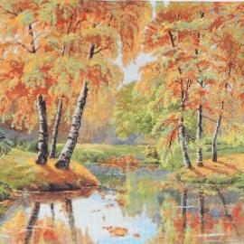 Вышитая картина Золотая осень