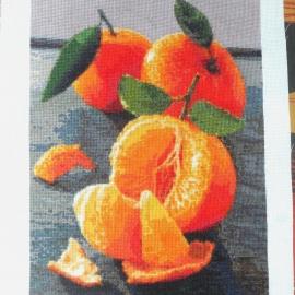 """Вышитая картина """"Сочные мандарины"""""""