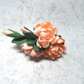 Заколка для волос/брошь Цветы из фоамирана