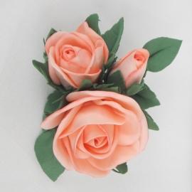 Брошь/заколка из фоамирана Три розы