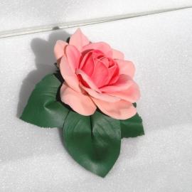 Зажим для волос Роза из фоамирана