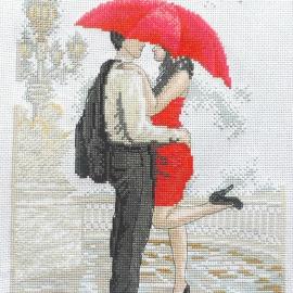 """Вышитая картина """"В объятиях дождя"""""""