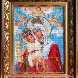 Икона бисером Богородица Милующая