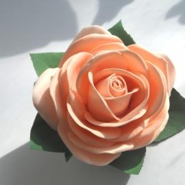 Заколка автомат-Роза из фоамирана
