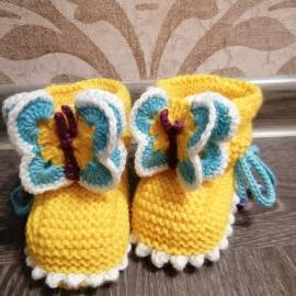 Пинетки бабочки желтые