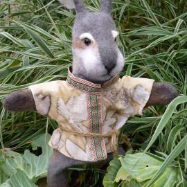 перчаточная кукла(бибабо)заяц