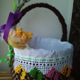 Корзинка Пасхальная для куличей и яиц