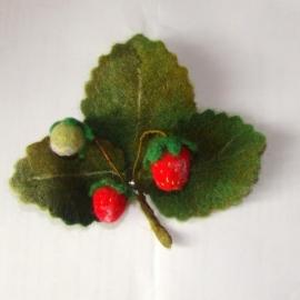 Букет ягод земляники.