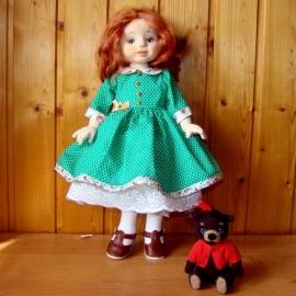 Текстильная кукла Варенька