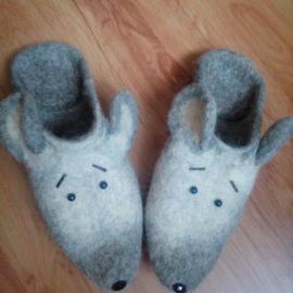 Тапочки валяные Мышата
