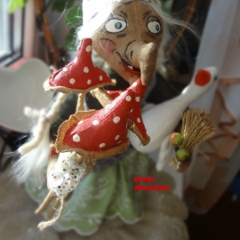 Бабулечка ягулечка с гусем