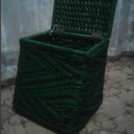 Коробы и корзины плетёные