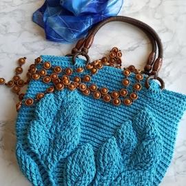 Пляжная сумка / сумка-шопер голубого цвета