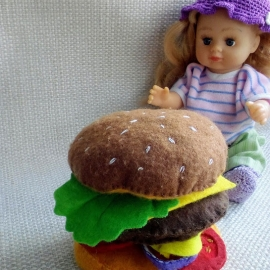 игрушечная еда, гамбургер