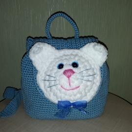 Рюкзак вязаный для девочки