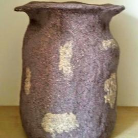 Ваза керамическая с эффектом гранитного камня