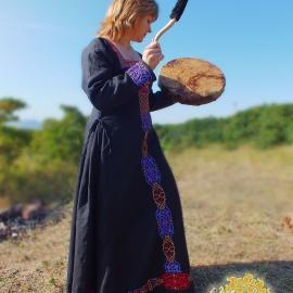 Средневековое Льняное платье Марго