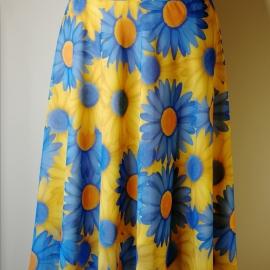 Дизайнерская юбка с воланми.