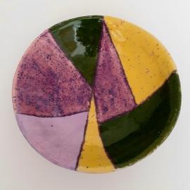 Глубокая расписная тарелка