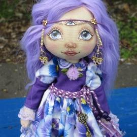 Текстильная кукла Индиго